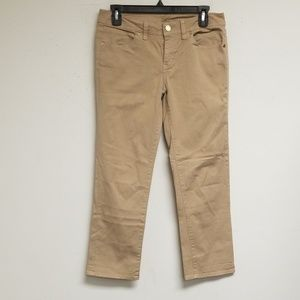 Tory Burch Tan Cropped Jeans Size 28